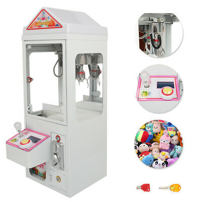 110V Mini Claw Crane Machine Candy Plush Toy Grabber Flashing Lights Shake-proof