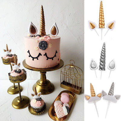 Unicorn Horns Cake Topper Birthday & Baby Shower Kids Party Supplies Decor - Baby Shower Cake Decorating Supplies