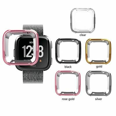Silikon TPU Schutz Hülle Tasche Cover Case Armband Für Fitbit Versa Smart Uhr Armband Case Cover