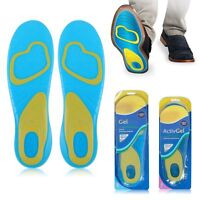 1pair Gel Activ Shock Absorption Insoles Cushion Foot Care Heel Arch Feet - unbranded - ebay.co.uk