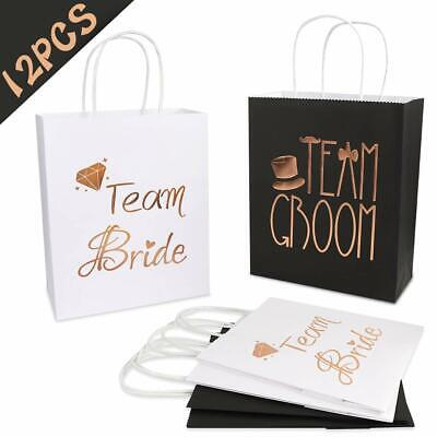 Bridesmaids Gift Bags (12pcs Bridesmaid Gift Bag Bridal Wedding Favor Gift Bags Bachelorette Party)
