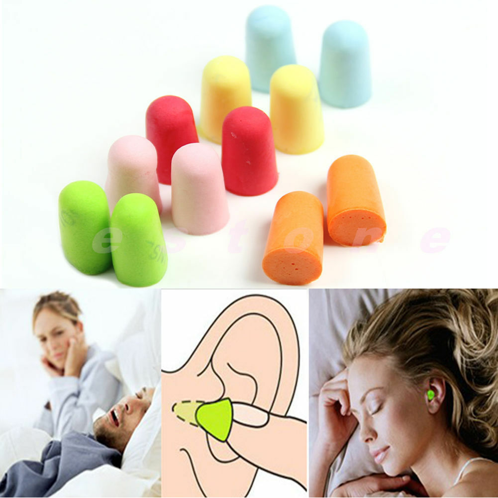 5 Pairs Protector Travel Ear Plugs Sleep Noise Reducer Soft