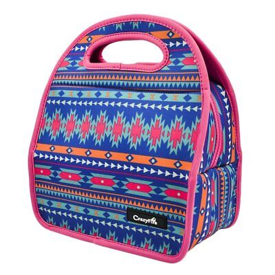 Waterproof Insulated Lunch Bag With Rubber Zipper Closure Large for Women Kids