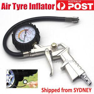 Car Truck Air Tyre Inflator Pressure Meter Tire Pump Hose Gauge Compressor Tools
