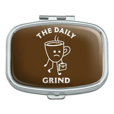 The Daily Grind Coffee Work Funny Humor Rectangle Pill Case Trinket Gift Box for sale  Shipping to India