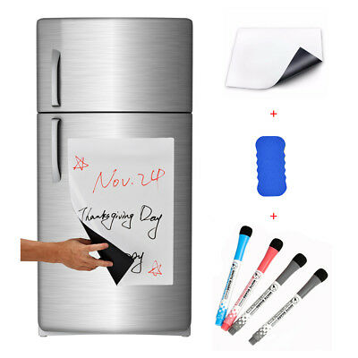 17x12 Refrigerator Dry Erase Magnetic Flexible Blank White Board Message Plan