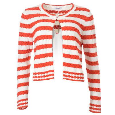 iBLUES MAX MARA Cardigan Red & White Cable Knit RRP £140 BG