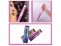 New PRITECH Electric Ceramic Coating Barrel Hair Curler Curling Iron Roller Travel Use