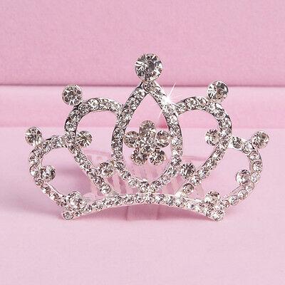 Girl Kids Rhinestone Princess Hair Clip Wedding Crown Hairpin Comb Tiara Cheap - Cheap Tiaras