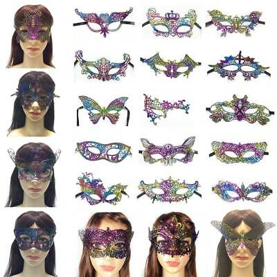 Multicolor Sparkling Lace Eye Mask for Masquerade Halloween Costume Party Decor - Painted Eyes For Halloween