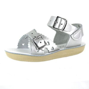 5b9b5f06e Sun San Saltwater Sandals Toddler Girls Silver Sweetheart Size 6 for ...