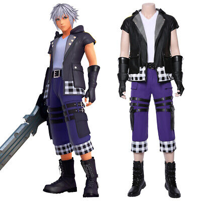 Riku Kingdom Hearts III Cosplay Riku Costume Outfit Halloween Full Set Boots](Riku Halloween Costume)