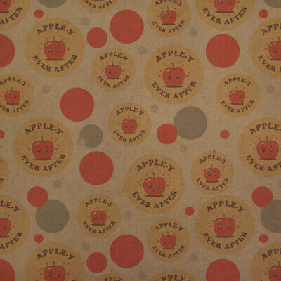 Apple-y Happily Ever After Funny Humor Kraft Gift Wrap Wrapping Paper Roll - Apple Gift Wrap