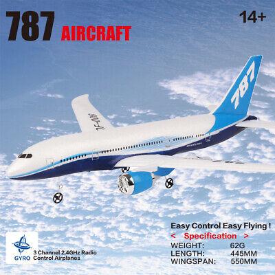 UK! QF008-Boeing 787 RC Plane Airplane Remote Control Stimulation Model Toy Gift