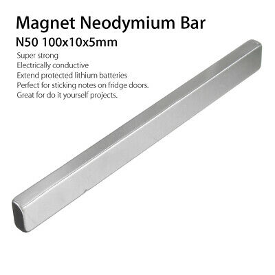 N50 Magnet Neodymium Bar Long Cuboid Super Strong Rare Earth Magnets 100x10x5mm