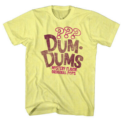 Dum Dums Sugar Candy Lollipop Mystery Flavor Original Pops Adult T-Shirt Tee