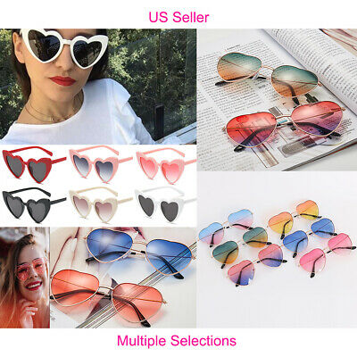 US Women Lovely Heart Shape Sunglasses Halloween Cat Eye Retro Sun Glasses UV400 - Eye Heart Halloween