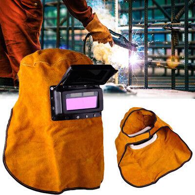 Solar Auto Darkening Filter Lens Welder Leather Hood Welding Helmet Mask Head