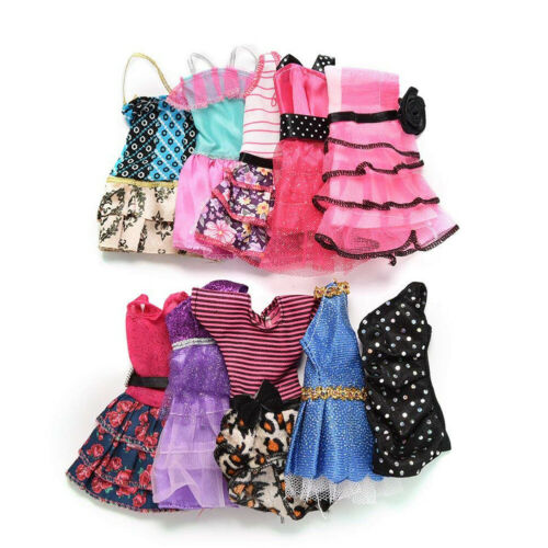 10 Pcs Dresses for Barbie Doll Fashion Party Girl Dresses Clothes Gown Toy Gift. - 4