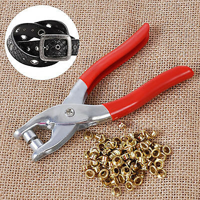 1 Punch Pliers 100 Rivets Eyelets Tools Grommets for Bags Leather Belt New Trend