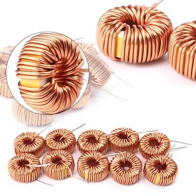 10pcs Toroid Cores Common Mode Inductors Wire Wind Wound Coil Set 100uh 6a 13mm
