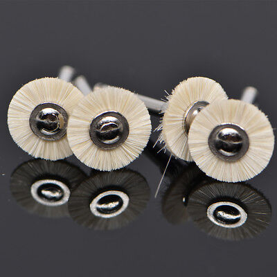 5pc Dental Prophy Polishing Wheel Polisher Brush Buffing Pads For Contra Angle