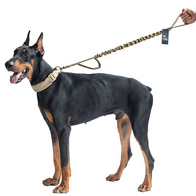 OneTigris Training Dog Leash Walk Lead Tactical Military  Nylon Belt Strap Tan