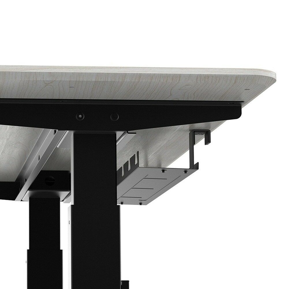 Under Desk Cable Management Tray Wire Cord Power Strip Adapter Organizer Steel | eBay