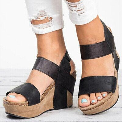 Womens Summer Wedge Sandals High Heels Platform Bandage Casu