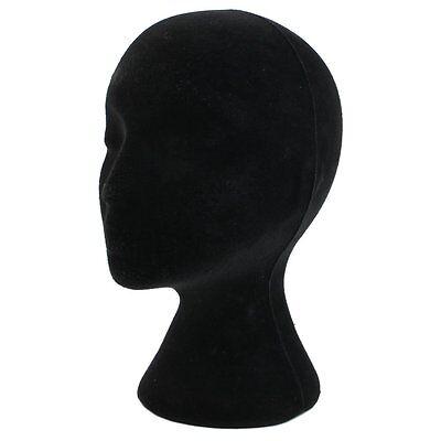 Styrofoam Foam Mannequin Manikin Head Model Wigs Glasses Display Stand Black Dt