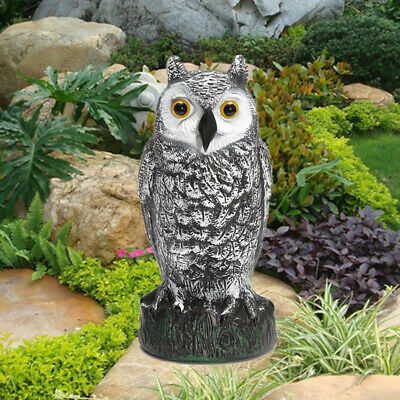 Fake Owl Hunting Decoy Garden Protection Decor Repel Pest Control Crow Scarer US