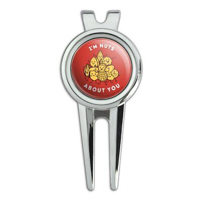 I'm Nuts About You Love Funny Humor Golf Divot Repair Tool and Ball Marker ()