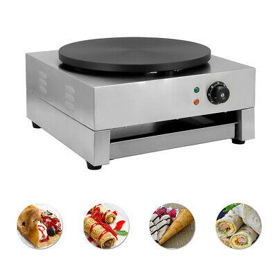 16commercial Electric Crepe Maker Baking Pancake Machine Big Hotplate Non Stick