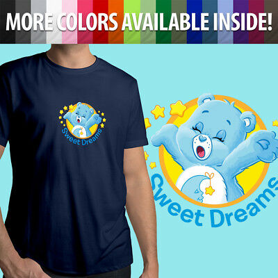 Care Bears Bedtime Bear Sleepy Sweet Dreams Cartoon Unisex Mens Tee Crew T-Shirt (Sleepy Bear Tee)
