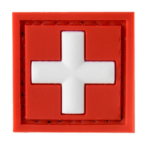 G-FORCE MEDIC Square Logo Hook & Loop Airsoft PVC Tactical Morale PATCH-GQ0308