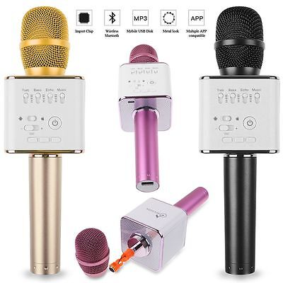Q9 Mini Wireless Bluetooth Karaoke Microphone Speaker Handheld KTV USB Player