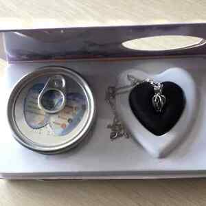 Box Love Wish Pearl Necklace Set Oyster Drop Pendant for Lover Valentine's Day