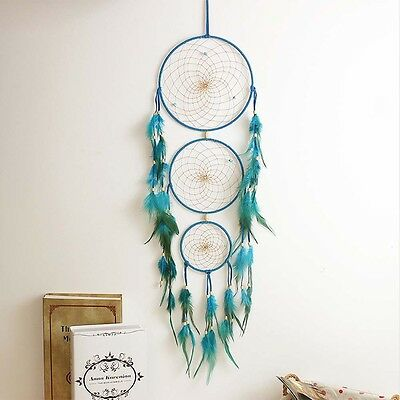 """Handmade Dream Catcher with Feather Wall Hanging Decoration Ornament 27"""" Long"""