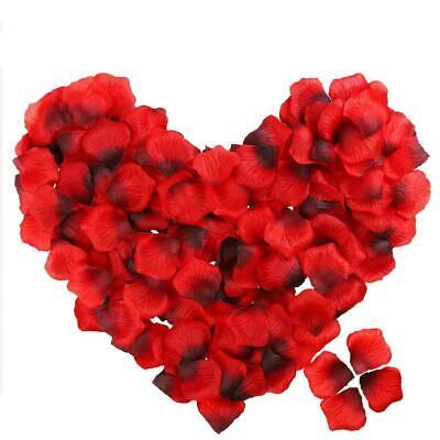 1000 Confeti pétalos de rosa, seda de calidad rojo intenso - Decoraciones...