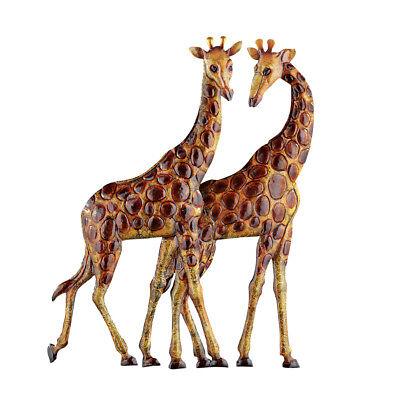 Giraffes Metal Wall Art 3D Safari African Décor for Living Room, Bedroom ()