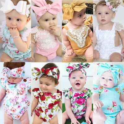 Kleinkind Kinder Baby Mädchen Strampler Overall Sommer Sunsuit Outfits Kleidung - Baby Sommer Kleidung