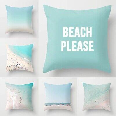 beach pillow case sofa waist cushion cover