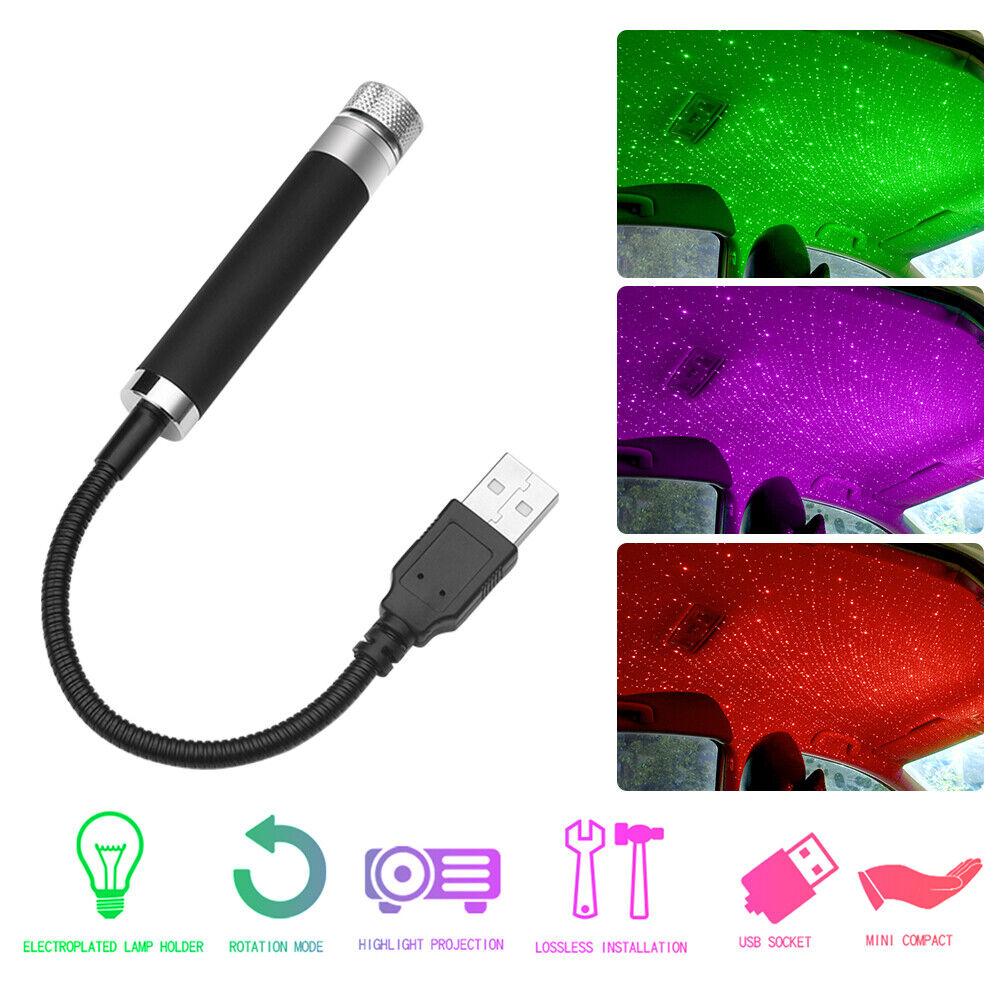 USB Car Atmosphere Star Light Sound Activated Auto Interior