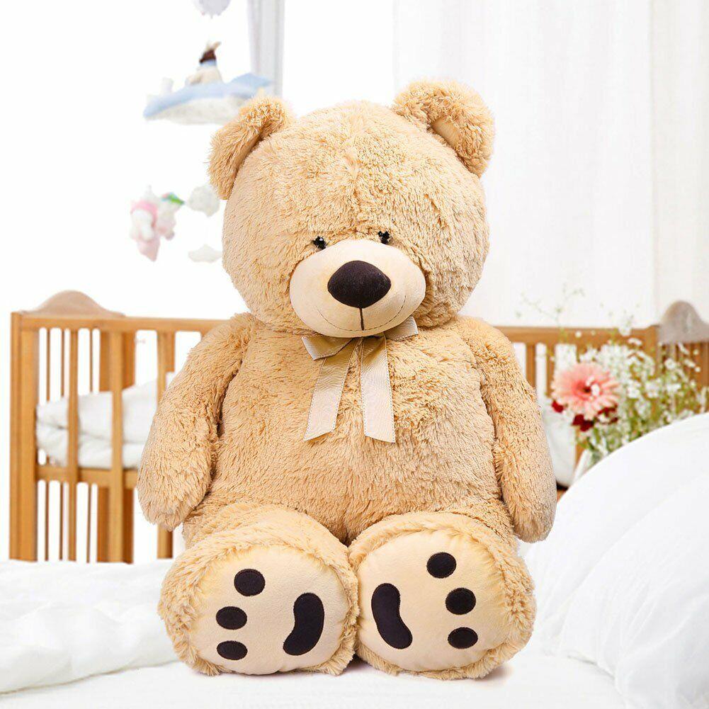 39'' Brown Plush Teddy Bear Stuffed Animal Toy Birthday Vale