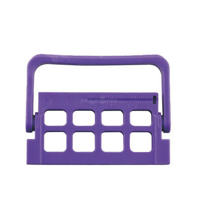 8 Holes Purple Endo Caddy Root Canal File Holderruler Autoclavable Easyinsmile
