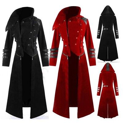Mens Vintage Gothic Steampunk Trench Vampire Party Tailcoat Long Jacket Coat Lot