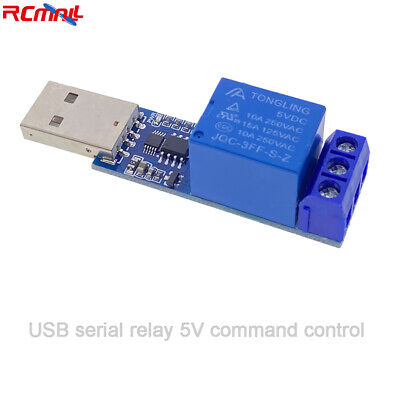 1 Channel Usb Ch340 Serial Relay Module 10a 5v Command Control Smart Switch