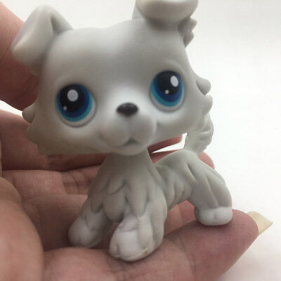 Hasbro LPS 363  Littlest Pet Shop Toys Gray Collie Dog Puppy Rare Kids Gift Play