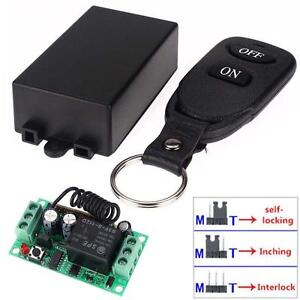 12V 10A Relay 1CH Wireless 3 Mode Remote Control Switch Transmitter+ Receiver UK