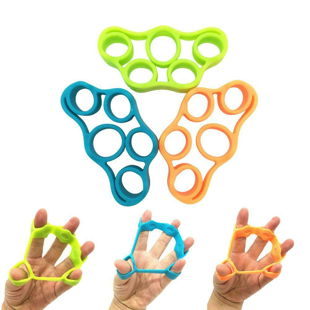 3 x Hand Resistance Band Finger Stretcher Grip Strength Training Forearm Trainer